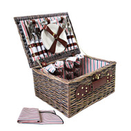 4 Person Picnic Basket - Walnut