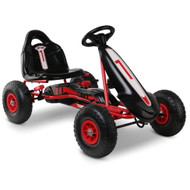 RIGO Kids Pedal Go Kart Car Ride On Toys Racing Bike Red