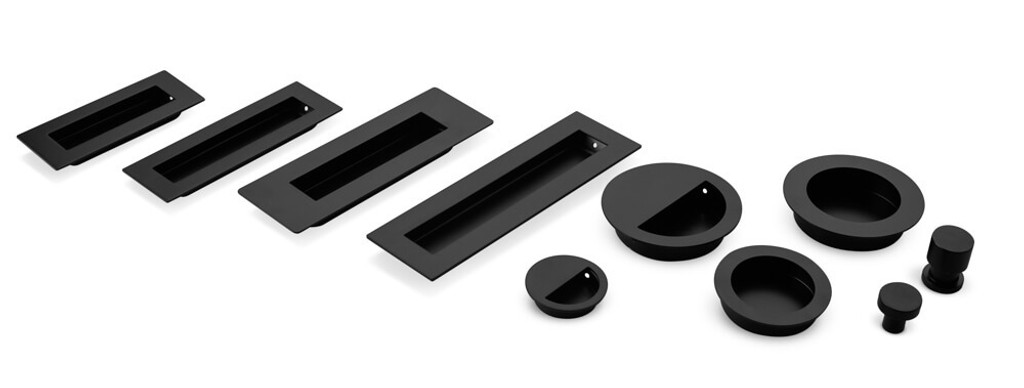 Black Knobs, Pull & Flush Handles