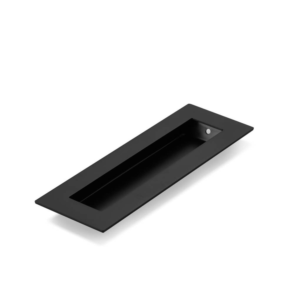 Black Flush Pull Handle 150mm Rectangle