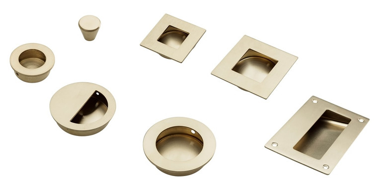 Brushed Brass Hardware & Handles from Mucheln
