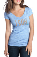 Final Stretch Women's Heathered Cotton Tee