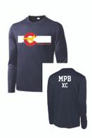 MPB Adult Long Sleeve Cross Country Mustang Flag Shirt