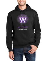 AWest Basketball Adult Fan Cotton/Poly Hoodie