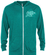 Jodi's Race Unisex Full Zip Triblend Hoodies