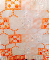 Chiffon Lace - BL579 - Orange and White
