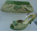 Giorgio Pantini Italian Matching Shoe and Bag: Avacado Green