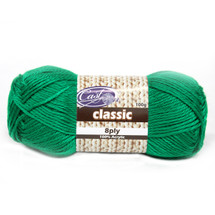 Cast On Classic 8ply Kelly Green - 10 pack