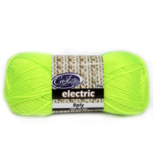 Cast On Electric 8ply Yellow - 10 pack