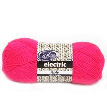 Cast On Electric 8ply Pink - 10 pack