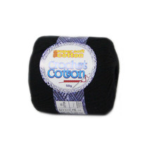 Crochet Cotton Jet Black 50g - Pack of 10