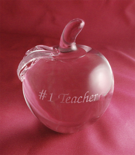 Personalized Crystal Apple The Crystal Shoppe