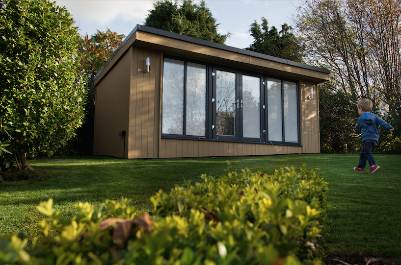 garden room, garden office, garden office with home cinema, garden office cheshire
