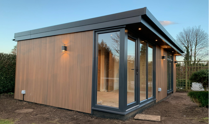 garden office in Wrexham, North Wales