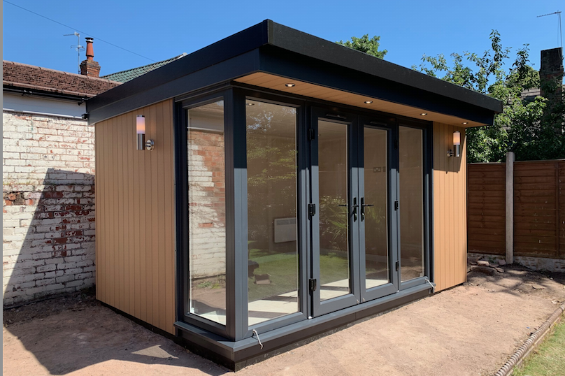 garden office in wirral, cheshire