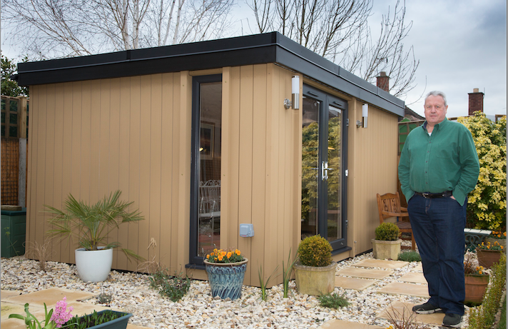 garden office wrexham, garden office north wales