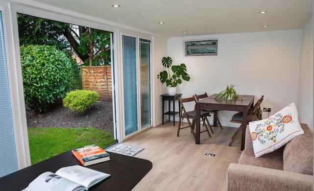 garden room interior, manchester