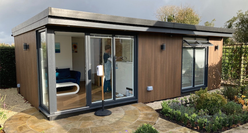 garden room clinic in Rosette, North Wales