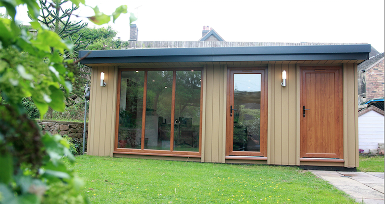 garden rooms, garden offices, environmentally friendly garden rooms, wood composite garden rooms