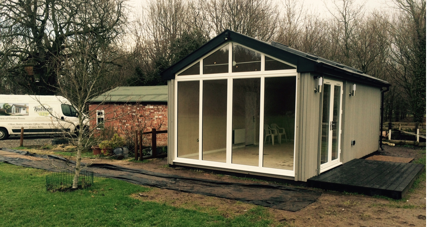 insulated garden room, garden room chester