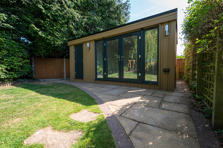 garden goom with storage, garden rooms shrewsbury