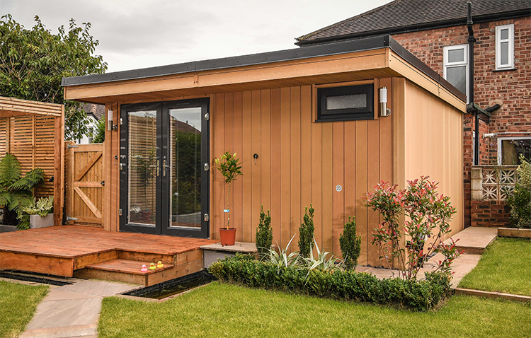 garden rooms, garden offices, zero maintenance garden rooms, fully insulated garden rooms
