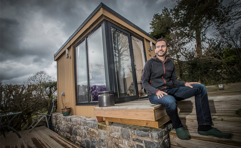 garden office, garden office flintshire, garden office north wales