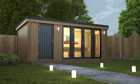 combi style garden room, garden rooms, garden offices, garden buildings, garden studio, garden rooms north wales, garden rooms cheshire
