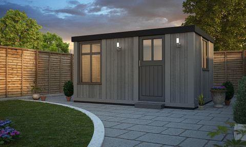 cabin style garden room, garden rooms, garden offices, garden buildings, garden studio, garden rooms north wales, garden rooms cheshire