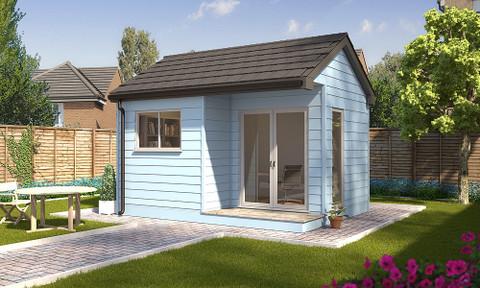 traditional modular garden room, garden rooms, garden offices, garden buildings, garden studio, garden rooms north wales, garden rooms cheshire