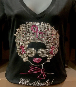 Afro Lady Breast Cancer