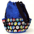 10-Pocket Bingo Ball Print Bag (Blue)