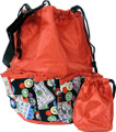 10-Pocket Bingo Card Print Bag  (Red)