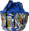 10-Pocket Classic Bingo Card Print #2 Bag (Blue)