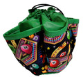 5-Pocket Mini Bingo Print Round Bag (Green)