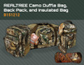"Realtree Camo 24"" Duffle Bag, Realtree Camo Back Pack & Realtree Camo Insulated Bag"
