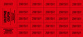 Chinese Auction Tickets - Red - 9 x 4