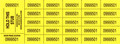 Chinese Auction Tickets - Yellow - 9 x 3.2