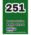 Quarter Auction Bin Raffle Tickets Expansion Pack (251-500)
