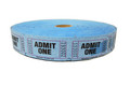 Single Roll Admit One Tickets - Blue