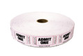 Single Roll Admit One Tickets - White