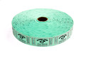 Single Roll Good for One Drink Tickets - Green