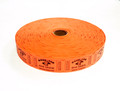 Single Roll Good for One Drink Tickets - Orange
