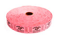 Single Roll Good for One Drink Tickets - Pink