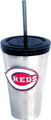 Reds Stainless Steel Tumbler w/Straw