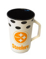Steelers Black and White Mug
