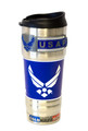 MILITARY 18oz VACUUM INSULATED SS TUMBLER w/SS EMBLEM