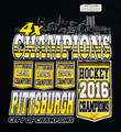 PENGUINS BANNER OF CHAMPIONS GOLD TSHIRT XXL