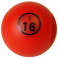 Red Magnetic Bingo Ball with 100 Chips