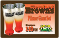 CLEVELAND BROWNS PILSNER GLASSES